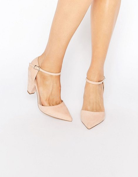 Asos SPEAKER Pointed Heels in beige - Heels by ASOS Collection, Faux-suede upper, Pointed toe,...
