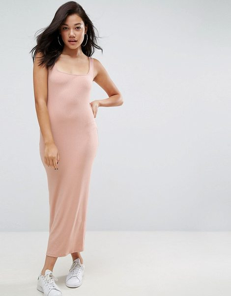 """ASOS Strappy Back Rib City Maxi Dress - """"""""Maxi dress by ASOS Collection, Soft-touch stretch..."""