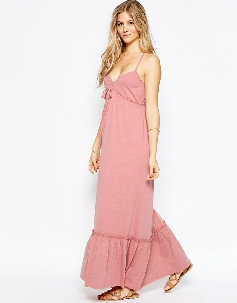 ASOS Strappy Tiered Maxi Dress in pink - Maxi dress by ASOS Collection, Soft-touch jersey, Deep...