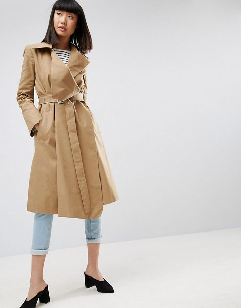 "Asos Structured Trench Coat in stone - """"Trench by ASOS Collection, Smooth woven twill,..."