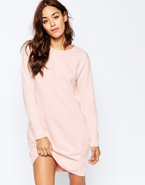 Asos Sweat Dress With Pockets in pink - Casual dress by ASOS Collection, Loop-back sweat, Crew...