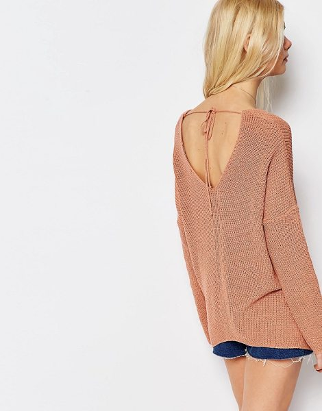 Asos Sweater in pink - Sweater by ASOS Collection, Lightweight chunky knit,...