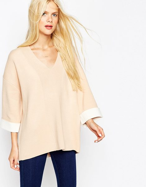 Asos Sweater in pink - Sweater by ASOS Collection, Stretch bonded knit,...