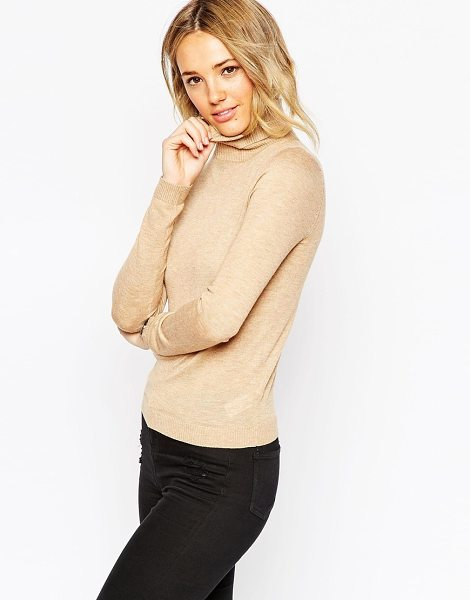 Asos Sweater in marl with roll neck in camel - Sweater by ASOS Collection, Soft-touch knit, Lightweight...