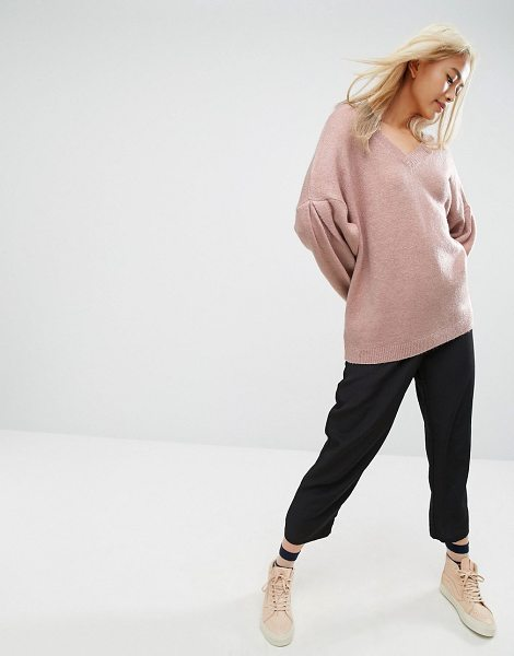 "Asos Sweater in Oversized with V Neck in pink - """"Sweater by ASOS Collection, Super-soft knit, V-neck,..."