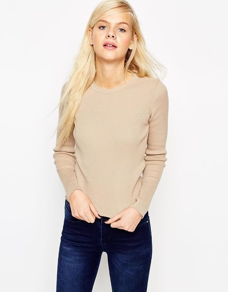 Asos Sweater in cream - Sweater by ASOS Collection, Ribbed knit, Lightweight...