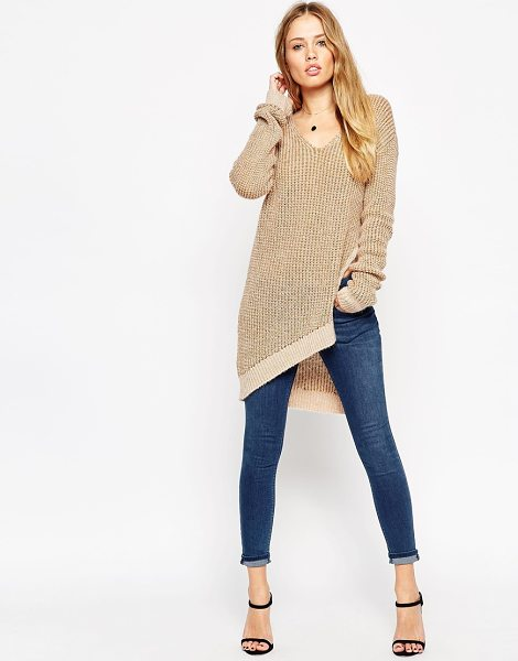 Asos Sweater in cream - Sweater by ASOS Collection, Chunky ribbed knit,...