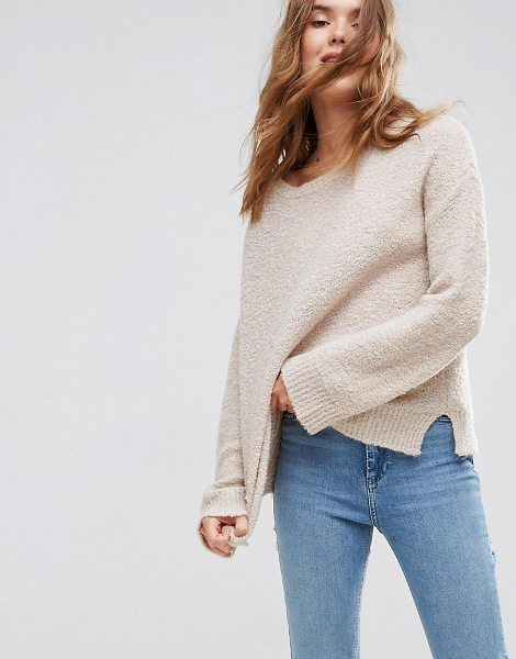 "ASOS DESIGN ASOS Sweater With Slash Neck In Boucle Yarn in oatmealmarl - """"Sweater by ASOS Collection, Lightweight boucle knit,..."