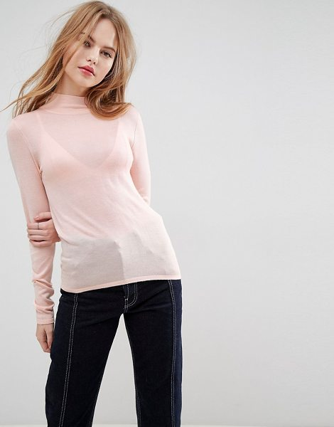 ASOS DESIGN asos sweater with turtleneck in palepink - Sweater by ASOS Collection, Super lightweight soft-touch...