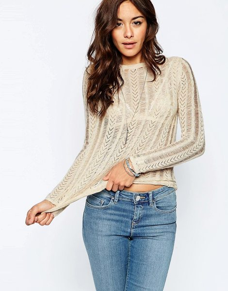 ASOS Sweater with Vintage Pointelle Look - Sweater by ASOS Collection, Super lightweight knit,...