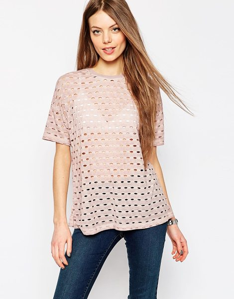 Asos T-Shirt in pink - T-shirt by ASOS Collection, Soft-touch jersey, Sheer...