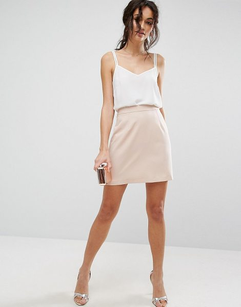 Asos Tailored A-line Mini Skirt in pink