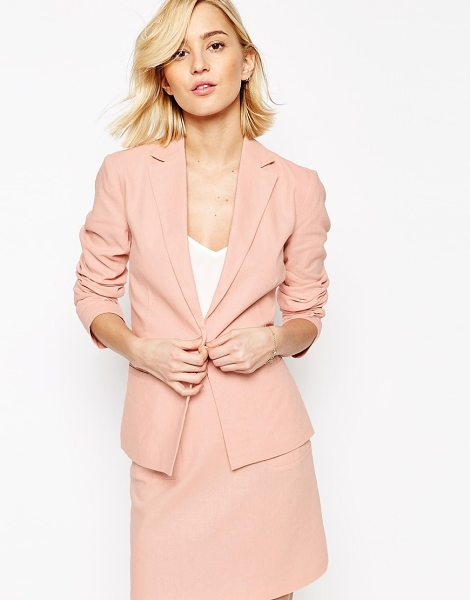 ASOS Tailored Blazer in Linen - Blazer by ASOS Collection, Lightweight linen-mix fabric,...