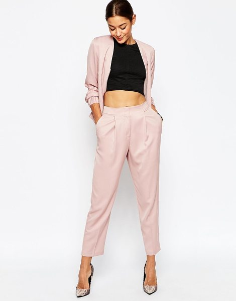 Asos Tailored Peg Pants Co-ord in pink - Pants by ASOS Collection, Smooth woven fabric, Lined...