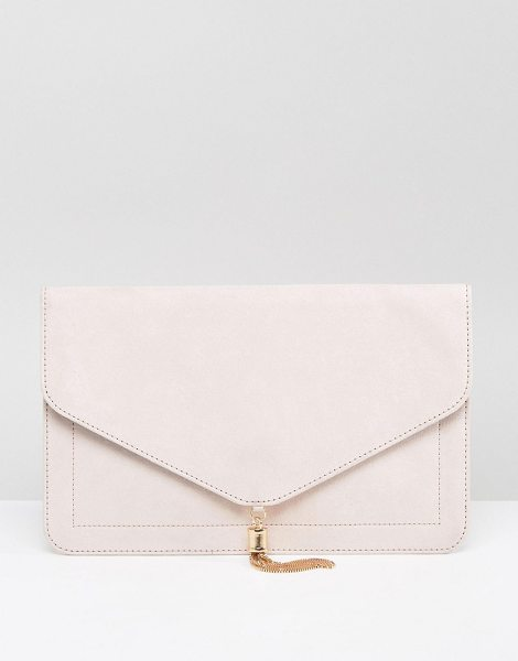 """ASOS tassel clutch bag in nude - """"""""Clutch bag by ASOS Collection, To have and to hold,..."""