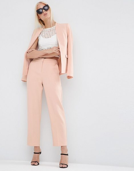 Asos Textured Slim Pant in pink - Pants by ASOS Collection, Textured woven fabric,...
