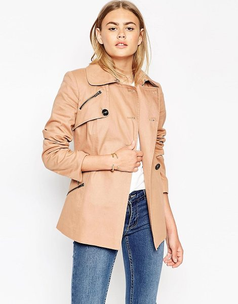 ASOS Trench Jacket - Jacket by ASOS Collection, Cotton-rich woven fabric,...