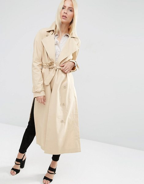 Asos Trench with Raglan Sleeve in Midi Length in pink - Trench by ASOS Collection, Lined woven cotton,...