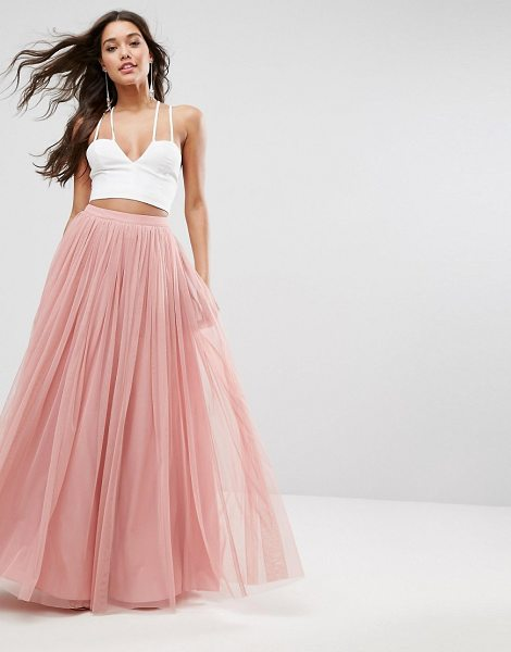 "ASOS DESIGN tulle maxi prom skirt in pink - """"Maxi skirt by ASOS Collection, Lined tulle, High-rise..."