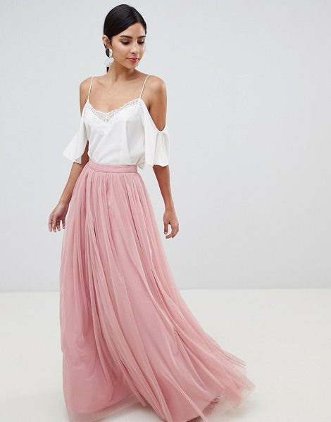 ASOS DESIGN tulle maxi prom skirt in pink - Maxi skirt by ASOS DESIGN, Take that dress code up a...