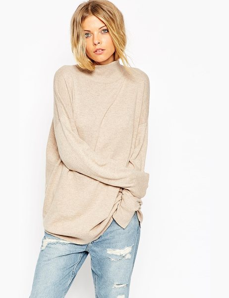 Asos Tunic with high neck in cashmere blend in oatmeal - Sweater by ASOS Collection Cashmere-mix Super soft,...