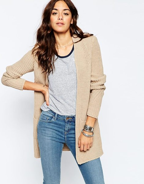 Asos Ultimate Chunky Cardigan in cream - Cardigan by ASOS Collection, Chunky knitted fabric,...