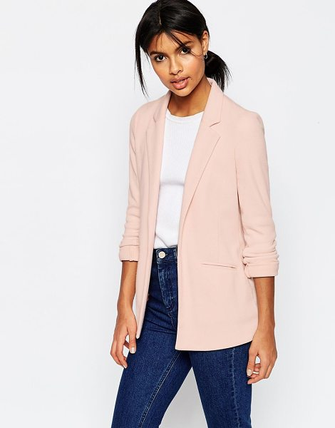 Asos Ultimate Ponte Blazer in pink - Blazer by ASOS Collection, Woven ponte, Fully lined,...