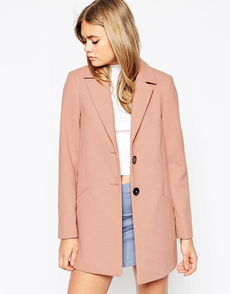 Asos Ultimate slim coat in blush - Coat by ASOS Collection Smooth woven fabric Fully lined...