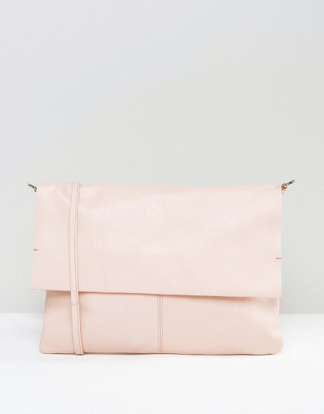 Asos Unlined Soft Leather Cross Body Bag With Detachable Strap in pink - Bag by ASOS Collection, Leather outer, Body strap,...