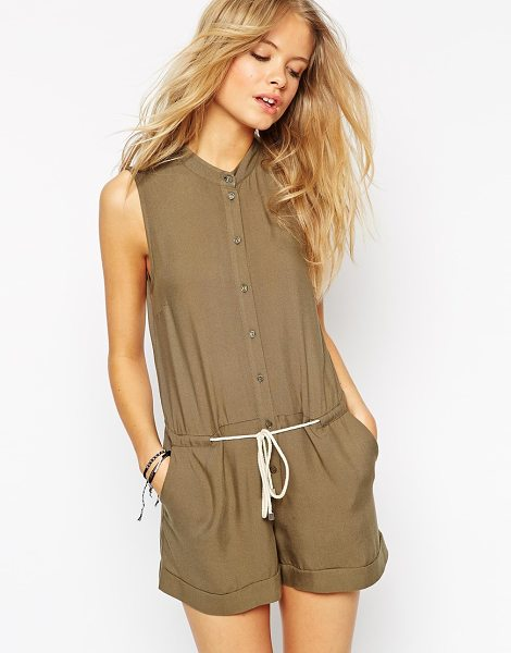 ASOS Utility romper with draw string waist - Romper by ASOS Collection Soft-touch woven fabric...