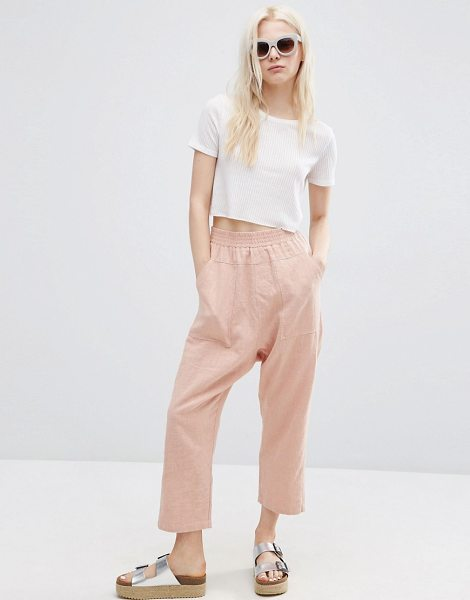 "Asos Washed Casual Straight Leg Pants in pink - """"Pants by ASOS Collection, Textured lightweight fabric,..."