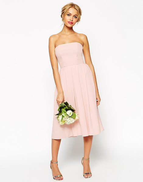 ASOS WEDDING Bandeau Midi Dress - Midi dress by ASOS Collection, Lightweight, crepe-style...