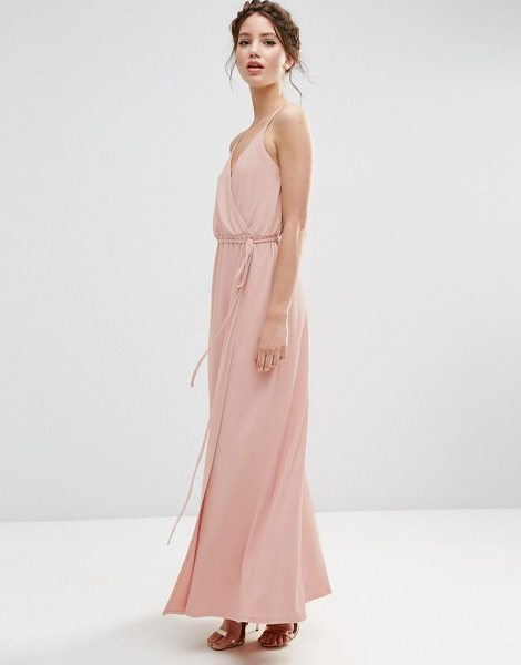 "ASOS WEDDING Crepe Strappy Wrap Maxi Dress - """"Maxi dress by ASOS Collection, Stretch crepe, Lined..."