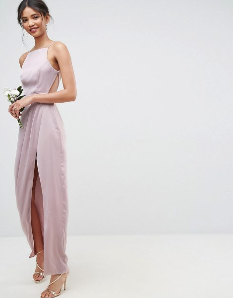 ASOS DESIGN Bridesmaid drape front strappy back maxi dress - Dress by ASOS Collection, Fully lined, Square neck,...