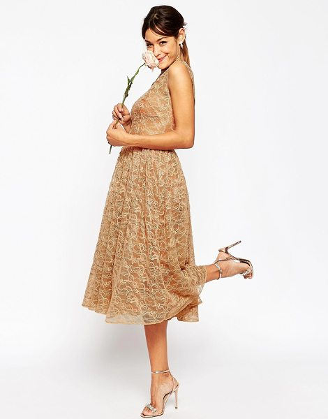 ASOS DESIGN Bridesmaid prom dress in lace - Lace dress by ASOS Collection, Lightweight woven lace,...