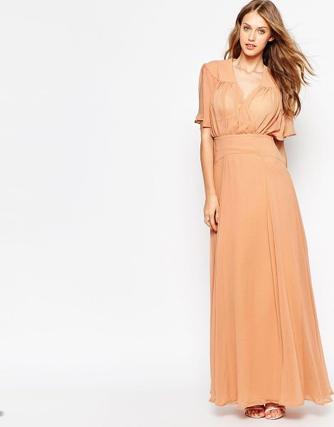 Asos Maxi dress with stitch shoulder detail in soft pink - Maxi dress by ASOS Collection, Mid-weight chiffon,...