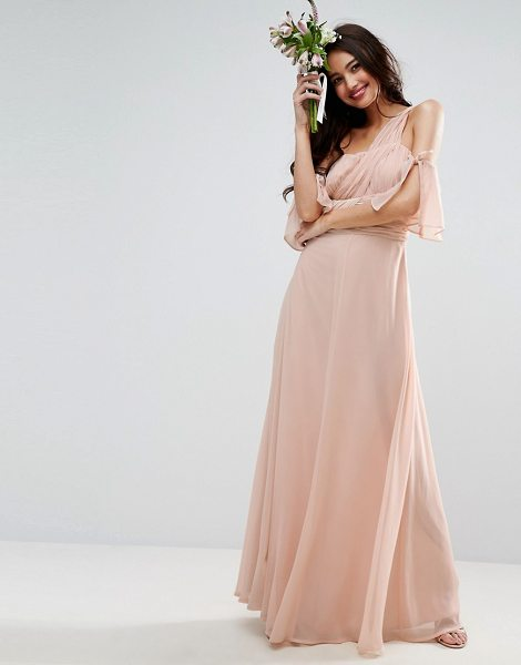 Asos Design One Shoulder Maxi Dress Nudevotion