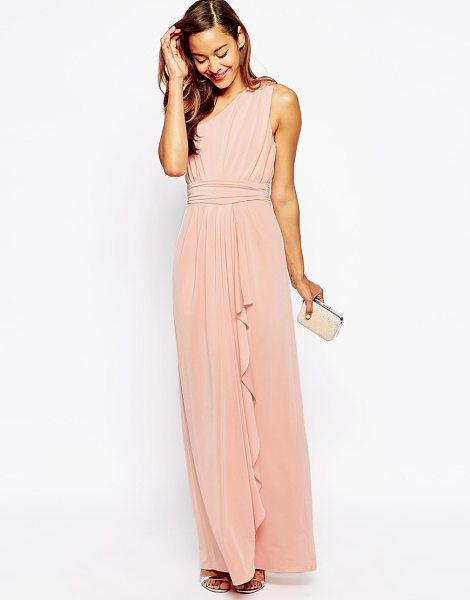 Asos Wedding one shoulder sexy slinky maxi dress in pink - Maxi dress by ASOS Collection, Lined smooth, woven...