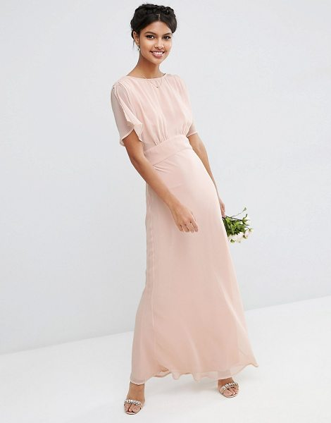 "Asos WEDDING Soft Maxi Dress in pink - """"Maxi dress by ASOS Wedding, Lined fabric, Crew..."