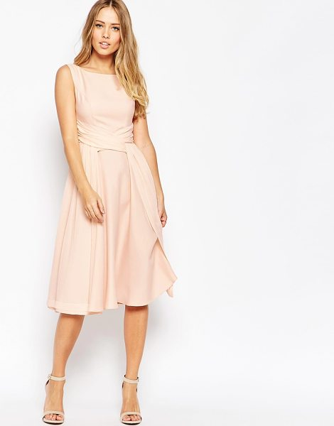 ASOS WEDDING Soft Midi Prom Dress - Midi dress by ASOS Collection, Mid-weight chiffon, Fully...