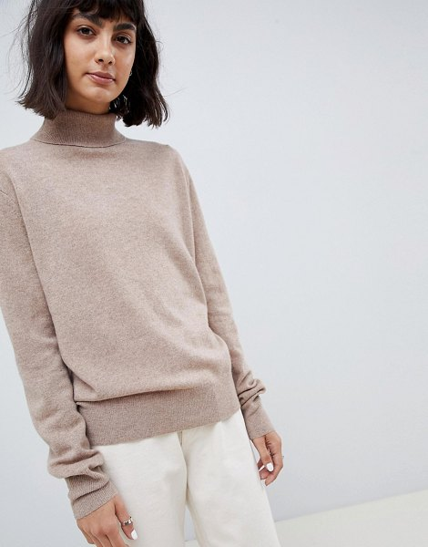 Asos White 100% cashmere sweater with roll neck in oatmeal - Sweater by ASOS WHITE, Welcome to the cozy life, Roll...