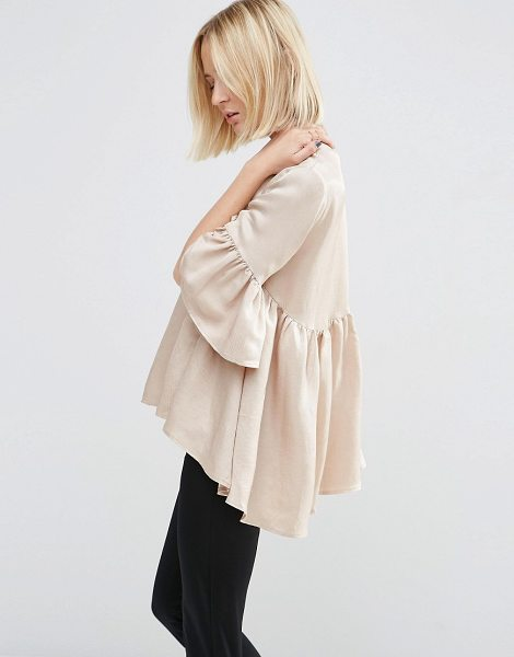 Asos White ASOS WHITE Extreme Frill Top in cream - Top by ASOS WHITE, Silky-feel woven fabric, Light sheen...