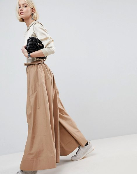 Asos White high waisted wide leg pants in stone - Pants by ASOS WHITE, Some serious daytime inspiration...