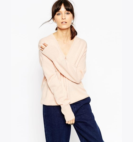 Asos White V neck sweater in cashmere in blush - Sweater by ASOS WHITE Pure cashmere wool Lightweight,...