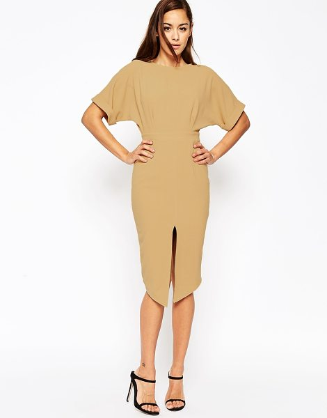 "ASOS Wiggle Dress with Split Front - """"Dress by ASOS Collection, Lightweight crepe, Boat..."