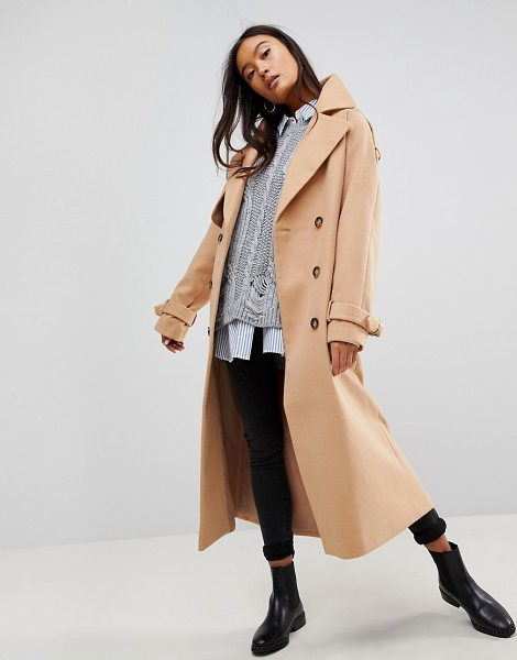 ASOS DESIGN asos oversized trench coat in camel - Coat by ASOS Collection, So good, you won t want to take...