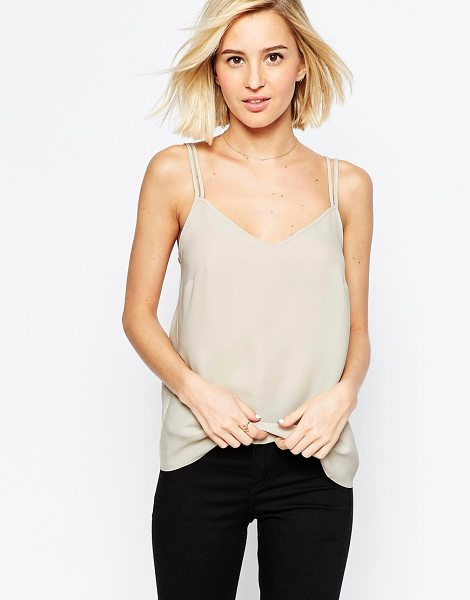 ASOS Woven cami top with double straps in mink - Top by ASOS Collection Lightweight woven fabric...