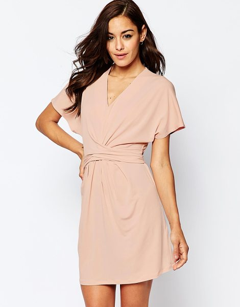 Asos Wrap Dress in pink - Dress by ASOS Collection, Lightweight woven crepe,...