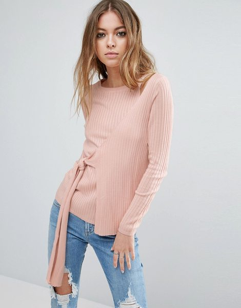 "Asos Wrap Sweater in pink - """"Sweater by ASOS Collection, Ribbed knit, Crew neck,..."