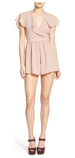 ASTR THE LABEL flutter cape romper - A fluttery surplice neckline extends into an ethereal,...